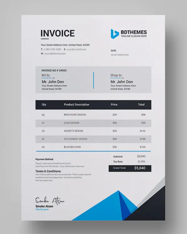 Invoice Template Ai Eps Psd Invoice Template Design Template Templates