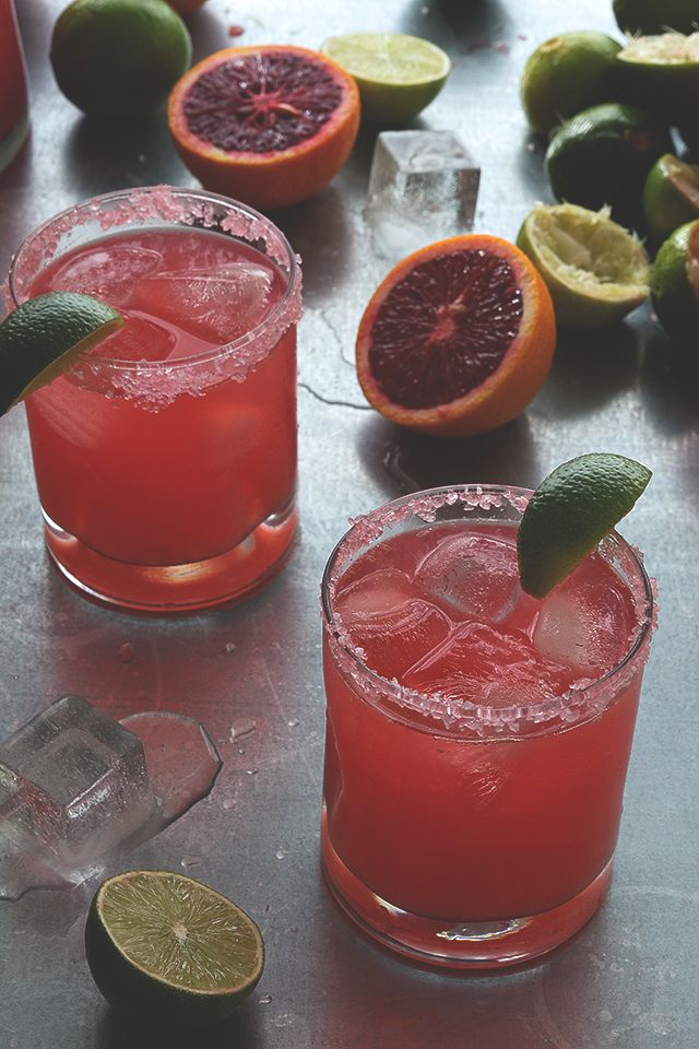 Blood Orange Margarita. I like the rosy color of this margarita, and I always put a splash of orange juice in my margarita... blood orange would be nice