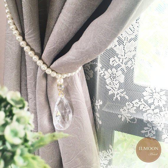 Crystal And Pearls Curtain Tie Backs Decorative Tiebacks Etsy