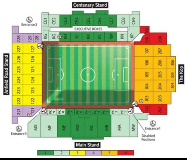 how to meet liverpool players at anfield seating