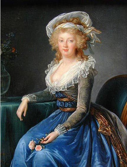 """""""Princess Maria Theresa"""", 1790, by  Elisabeth Louise Vigee Le Brun (French, 1755-1842). The Queen of Naples commissioned this portrait of her eldest daughter, Maria Theresa of Bourbon-Two Sicilies (1772-1807). She married her first cousin, Franz II , Emperor of Germany (1792-1806) and Austria (1806-35)."""
