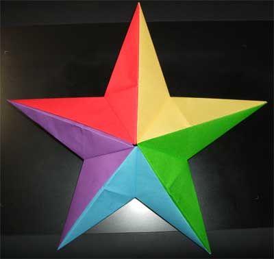 折り紙の星の簡単な折り方!5枚で立体的にする作り方を紹介 | コタローの日常喫茶
