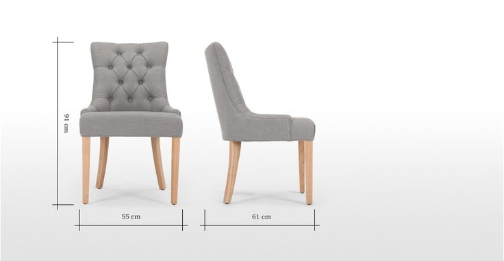 Flynn Scoop Back Chair in graphite grey | made.com