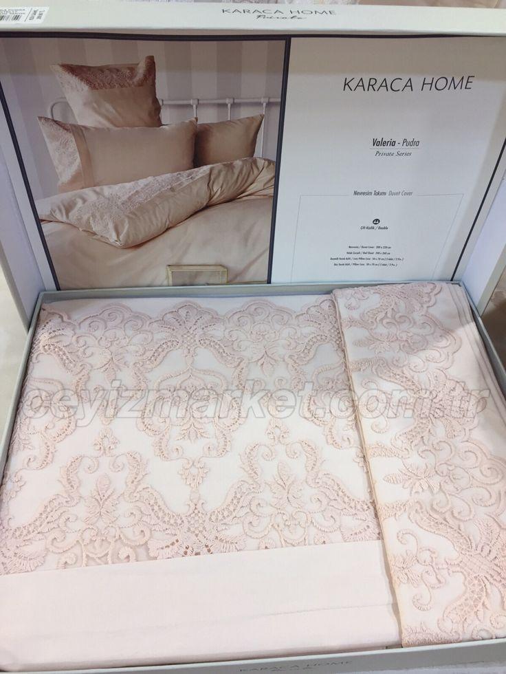 Karaca Home yatak örtüsünün hediyesi Karaca Home Dantelli nevresim takımı ceyizmarket.com.tr