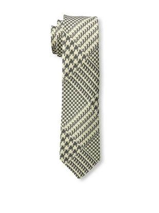 53% OFF Gitman Blue Men's Houndstooth Tie, Grey, One Size