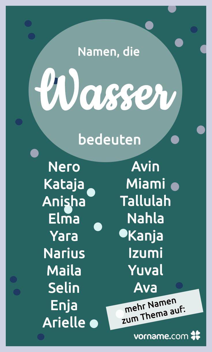 """Du suchst einen Babynamen mit einer besonderen Bedeutung? Diese Namen bedeuten """"Wasser""""."""