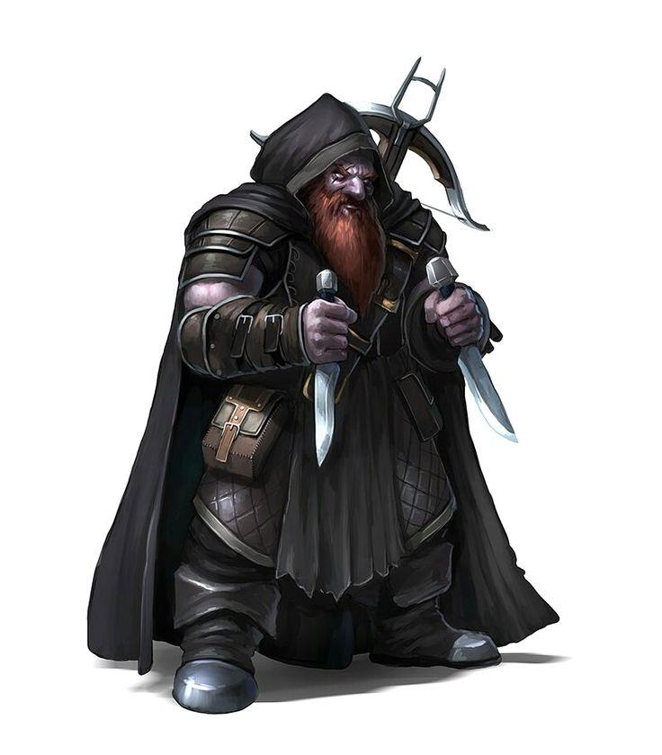 Duergar Male Assassin Rogue - Pathfinder PFRPG DND D&D d20 fantasy
