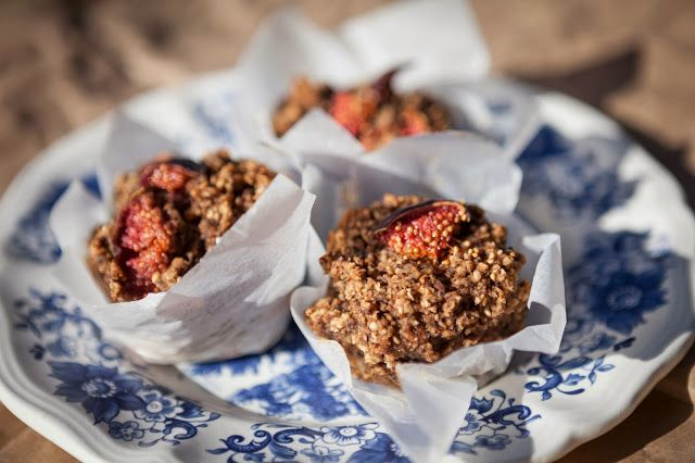 Carob and fig muffins / Food From Flossie
