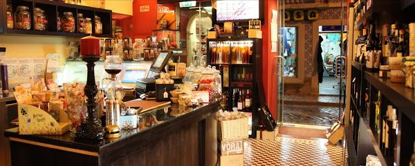 Gourmet shop, Tavira Market, East Algarve, Portugal