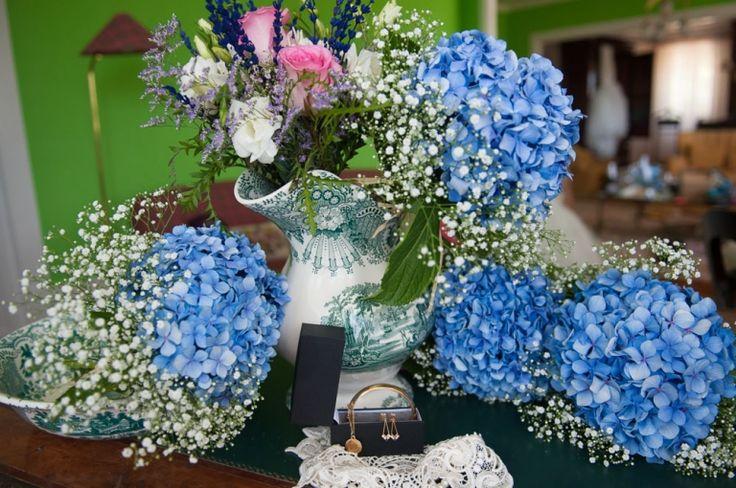 Pazo do Tambre. Detalles de bodas. Ramo de la novia y las damas de honor.