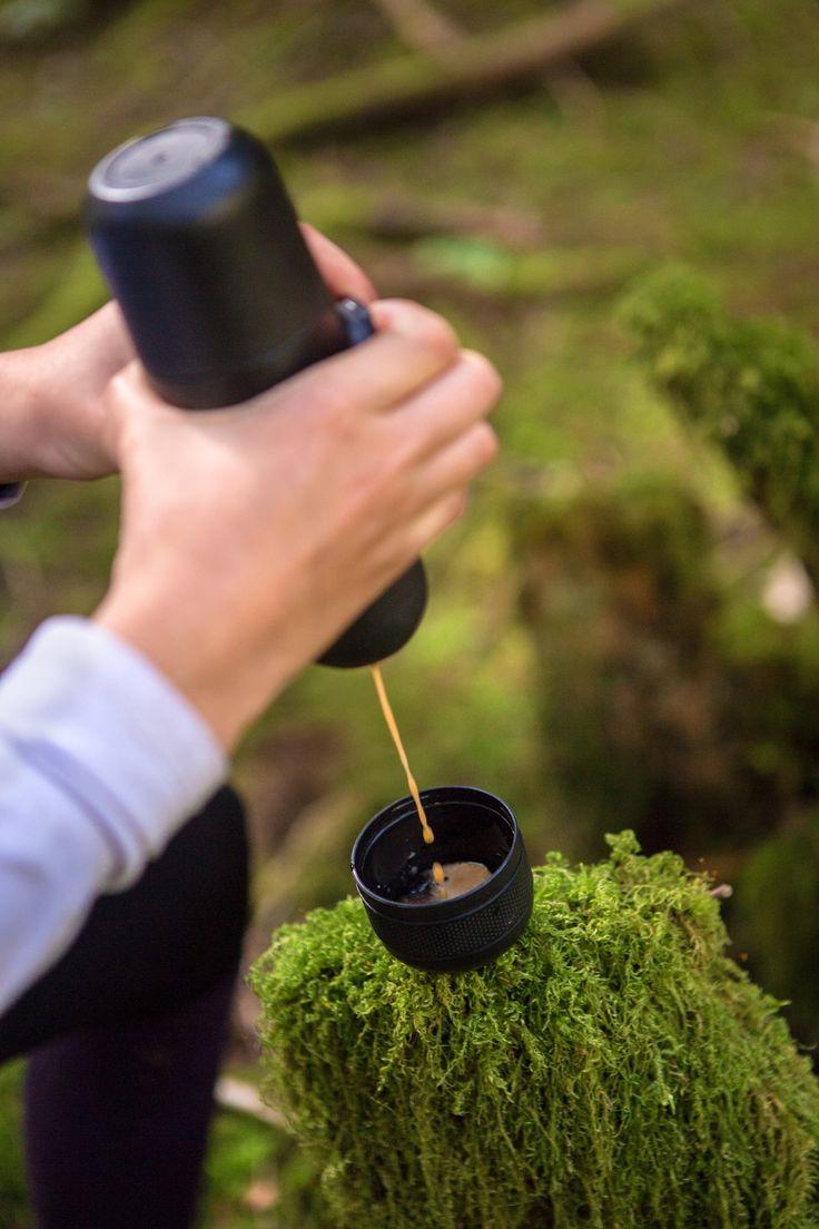 Espresso on the go with Minipresso! #espresso #coffee #portableespresso #portablecoffee #espressomaker #espressomachine #giftideasforcoffeelovers #giftideasforcampinglovers #giftideas #giftideasforoutdoorlovers #espressoanywhere #wacaco #minipresso #roadtrip #mountainbiking #oregon #pnw
