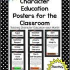 Character Education - *Monthly* Theme Posters & Student Activity Pages  These character education posters are the perfect addition to any class...