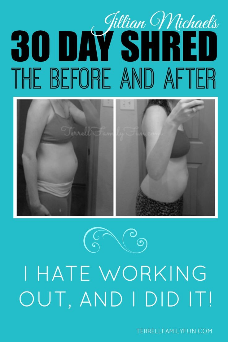 30 Day Shred Results, 30 Day Shred Before After, Jillian Michaels Workout, 30 day shred