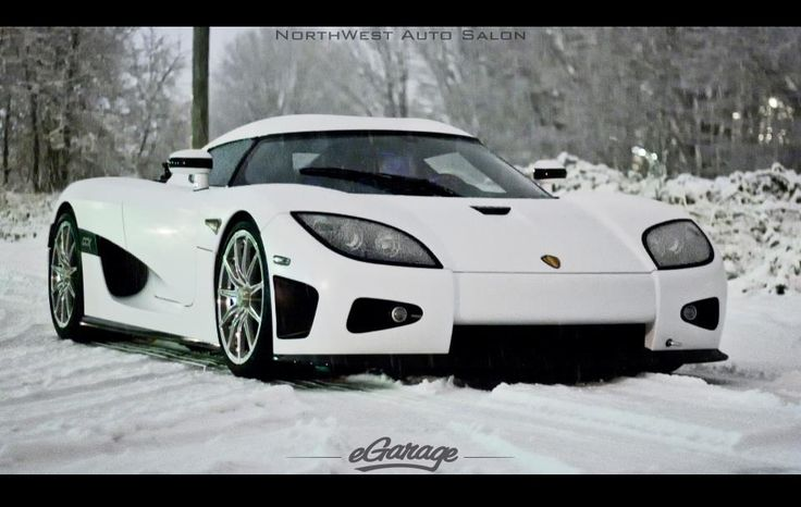 Koenigsegg CCX in the snow. This is no Ferrari, Lamborghini, or Porsche. True SuperCar