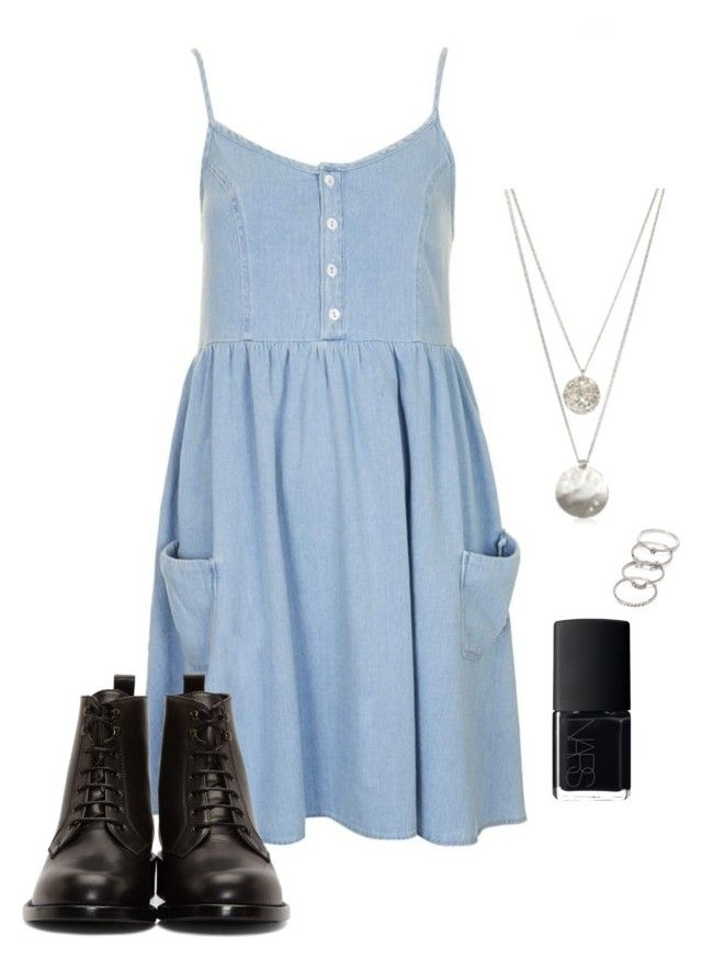 Daily, comfortable, jeans, dress, spring, summer, outfit. by abeer111 on Polyvore featuring polyvore, fashion, style, Topshop, Yves Saint Laurent, Kenneth Cole, Forever 21, NARS Cosmetics and clothing