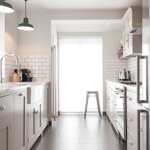 Beautiful Galley Style Shaker Kitchen The Simple Shaker Cabinets