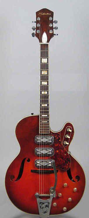 Vintage ~ Silvertone 1454 (Harmony H77) 3 pick-up electric guitar