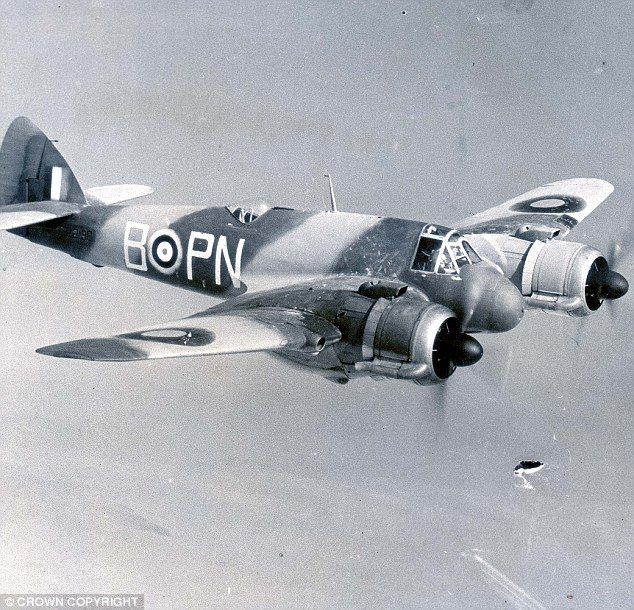 Sq Ldr Joll went on to fly a Beaufighter night fighter (file pic) and shot down several Na...