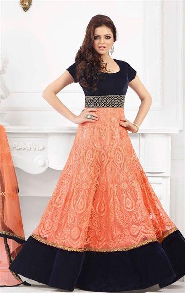 Rust Orange Gorgeous Anarkali Suit