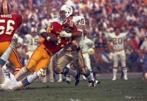 SUPER BOWL VII    Defensive tackle: Manny Fernandez, Miami Dolphins, Super Bowl VII