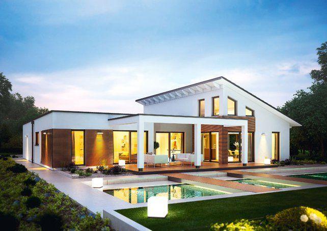 Pultdach Bungalow bungalow l mit pultdach von renschhaus architecture | bungalow haus