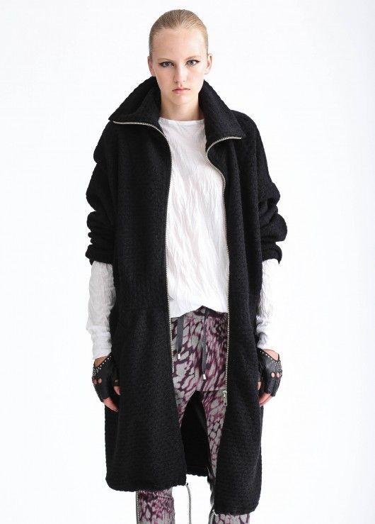 ZIP ON. black sweater