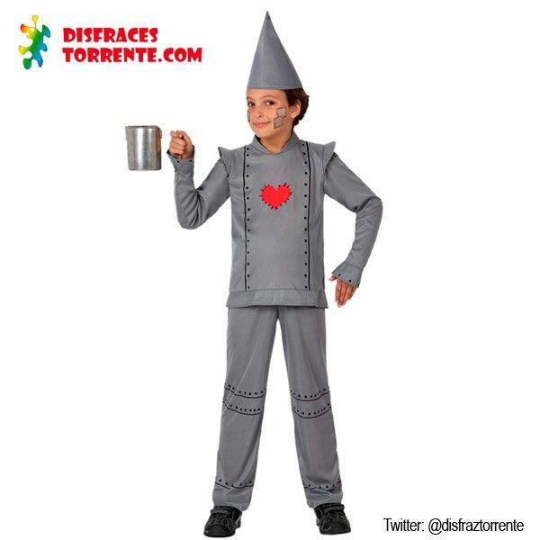 Disfraz Hombre de Hojalata niños carnaval Increíble disfraz de hombre de hojalata y vive el cuento del Mago de Oz, junto a Dorothy, el Espantapájaros, León etc...