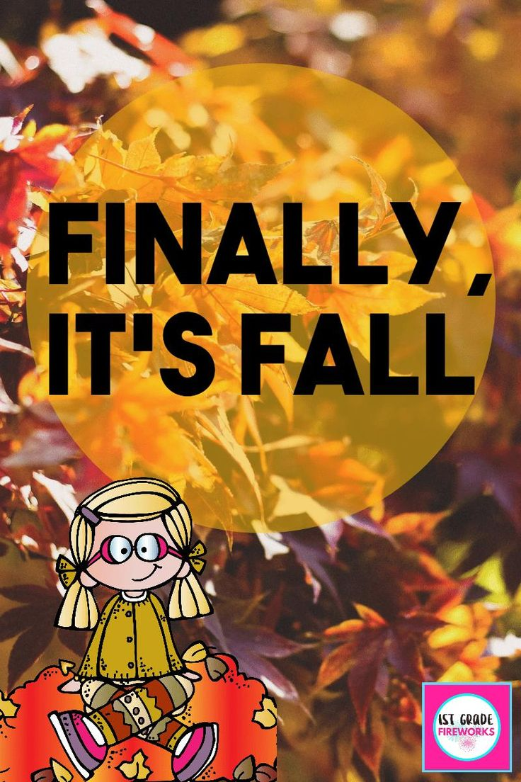 FINALLY… It's FALL