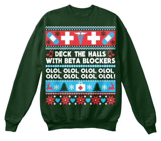 Beta Blockers Christmas Sweatershirt, nurse, nursing, er, humor, christmas gift, christmas jumper, ugly christmas