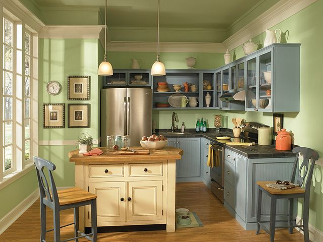 Green Kitchen Colors 60 best green rooms images on pinterest   green rooms, behr paint