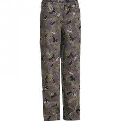 Pantalon Stepă 100 Camuflaj Island Verde Copii
