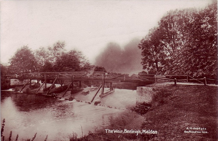 Essex, Beeleigh, Maldon, The Weir in the early 1910's