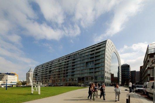 MVRDV Markthal Rotterdam - covered market. Incredible mixed use development.