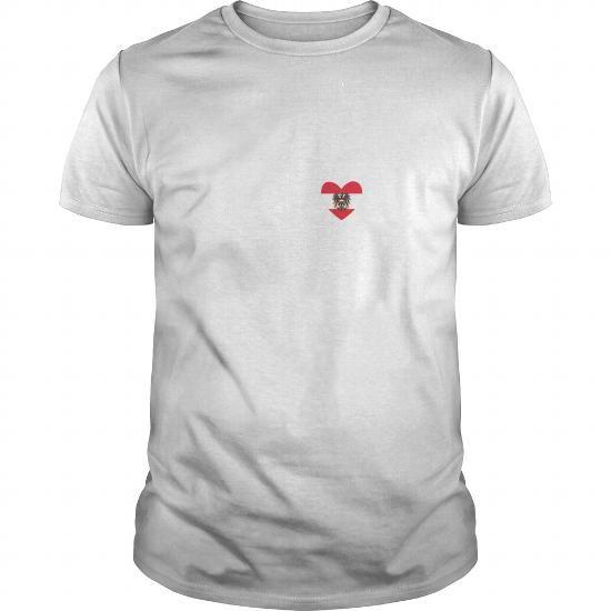 Austria Country Flag Heartbeat Pride Tshirt