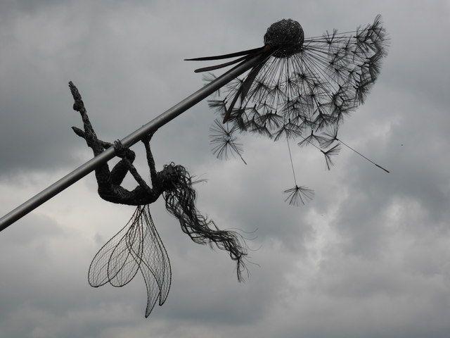 Trentham Gardens - dandelion & fairy installation