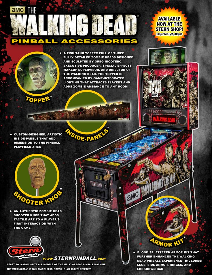 Stern Pinball Announces Immediate Availability of Custom Accessories For The Walking... -- MELROSE PARK, Ill., Dec. 8, 2014 /PRNewswire/ --
