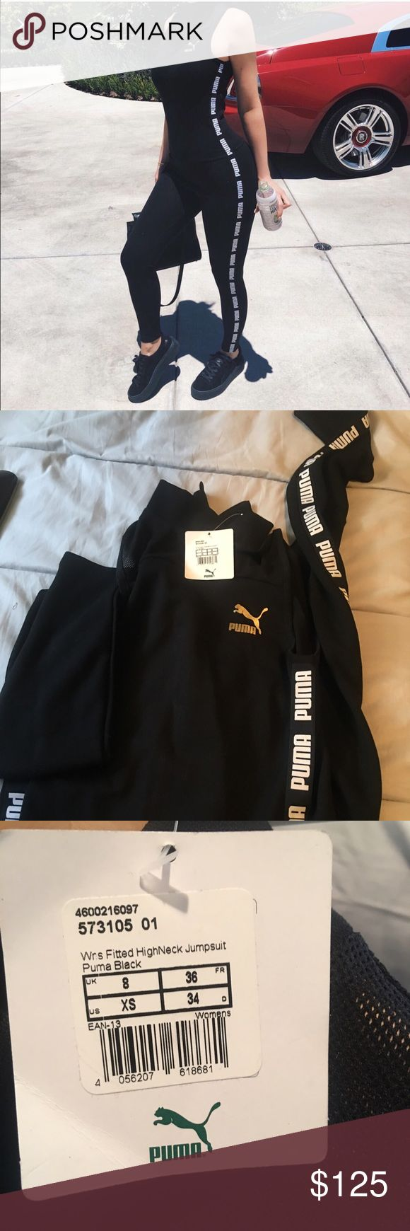 Puma jumpsuit Puma jumpsuit as seen on Kylie Jenner. Never worn with tags attached Puma Pants Jumpsuits & Rompers