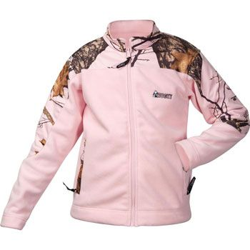 Rocky Brands Ladies Pink Camouflage Pink Fleece Winter Jacket | ChickSaddlery.com