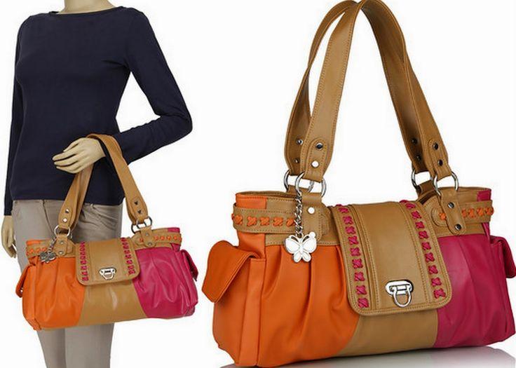 Butterflies Criss-cross Hand Bag.To buy/0rder online http://www.maguvathefashionworld.com/2014/10/10-trendy-handbags-for-shopping.html#.VDwvIN3F8kN