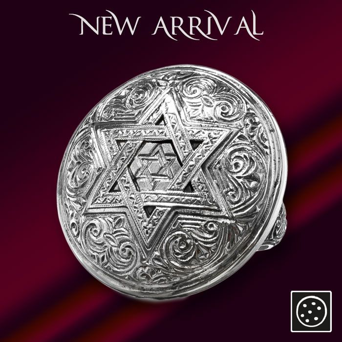 A large sterling silver Star of David ring. Check out the link for more details and join our newsletter to get your exclusive discount.