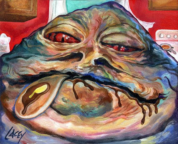 Canvas Print / Jabba The Hut Kitchen Pancake by DanLacey on Etsy