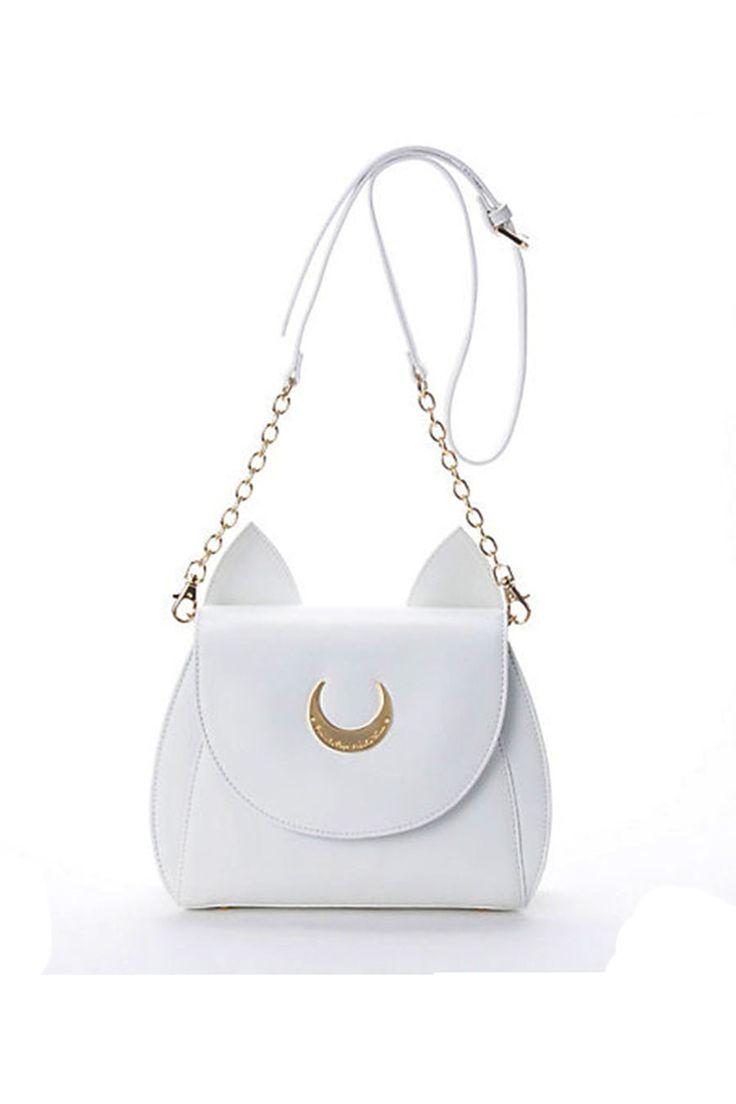 White Sailor Moon Luna Artemis Kawaii Bag