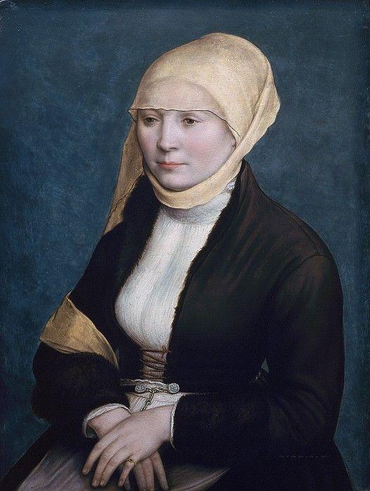 Ганс Гольбейн (Младший) (1498–1543) - Портрет женщины. Маурицхёйс
