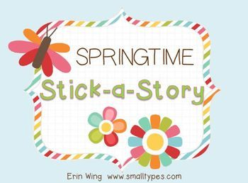 This free printable contains spring-themed images, common story words and a springtime story map. Print them to create magnets, stickers or cut and paste storytelling centers.  Great for brainstorming new stories or retelling old ones!   You can find more pictures and details about assembling the magnets on my blog.