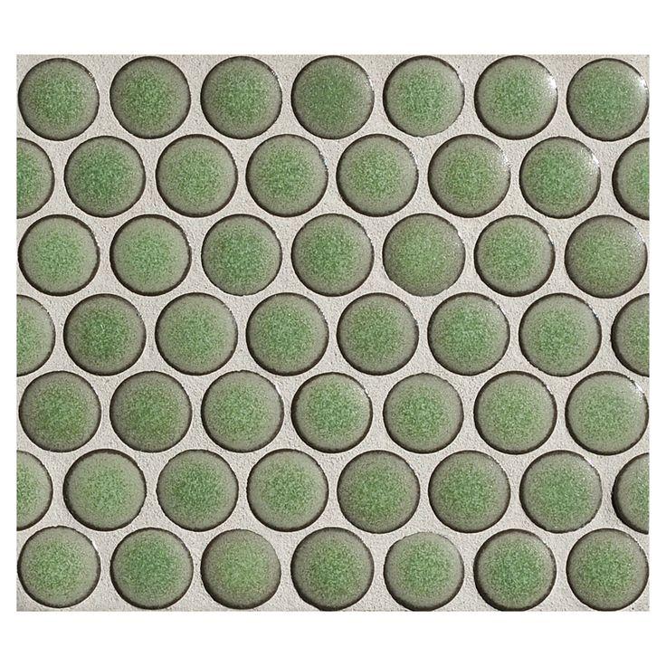 die 46 besten bilder zu penny round mosaic tile - porcelain auf ... - Badezimmer Olivgrn