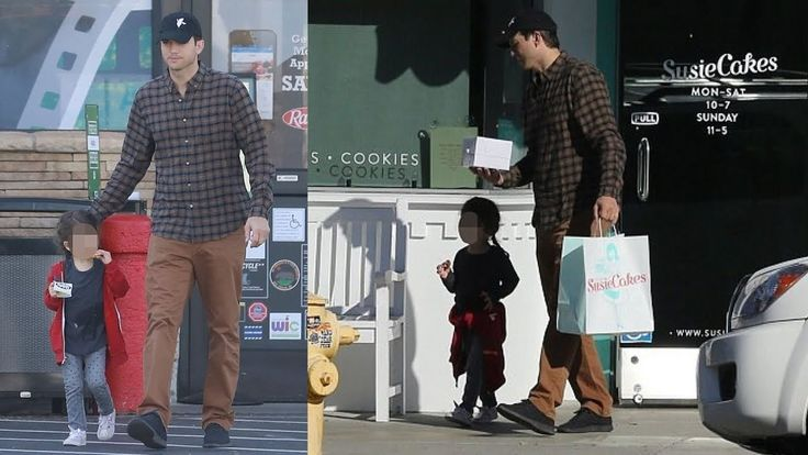 Sweets for a sweetheart! Doting dad Ashton Kutcher takes daughter Wyatt,...