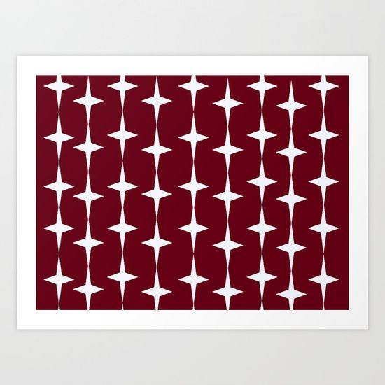 Christmas Lights- red Art Print