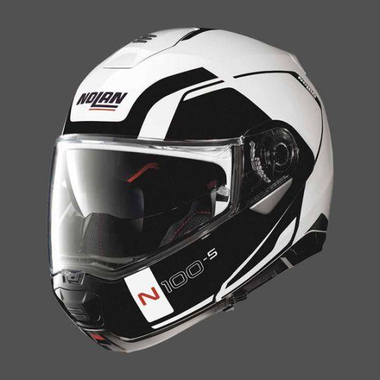 Nolan N100-5 Consistency N-Com Helmet - Metal White / Black