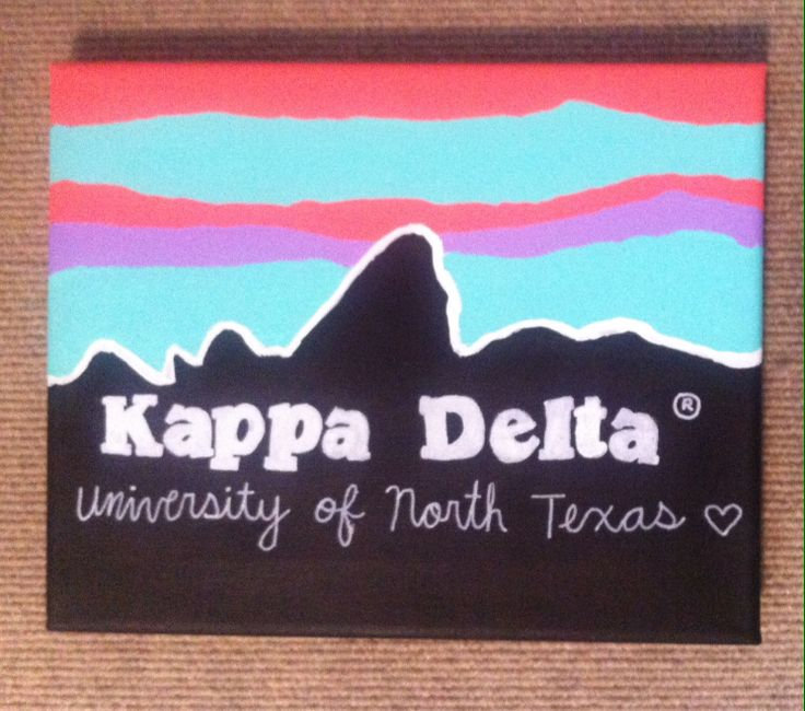 Made my own kappa delta Patagonia inspired canvas!
