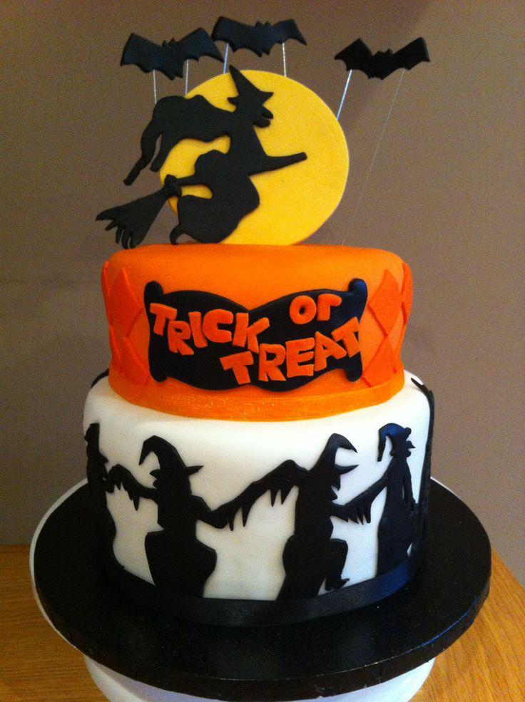 2 Tier Halloween Cake My Cakes Halloween Cakes